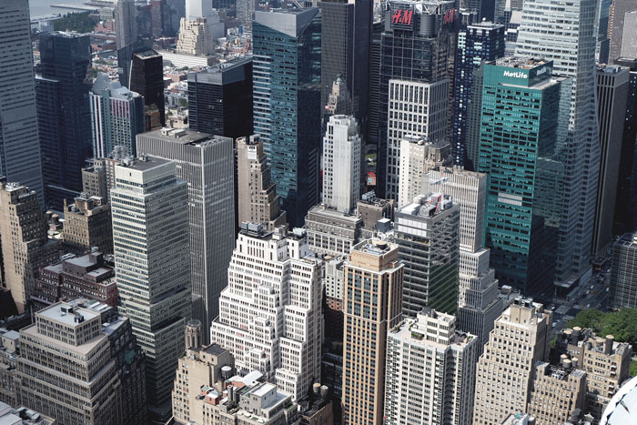 new york city aerial view of buildings - Security Consulting